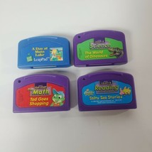 Lot of 4 Leap Frog LeapPad Kids Education Replacement Cartridges Reading... - $13.10