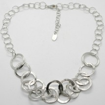 Choker Necklace 925 Silver with Circles Worked by Mary Jane Ielpo ,Made in Italy image 1