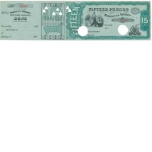 TF123b Series of 1875 15lbs Payment of Taxes on Tobacco Stamp, Gray Silk - $59.00
