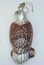 White-Tail BALD EAGLE - Blown Glass Ornament by Bronner's - $15.00