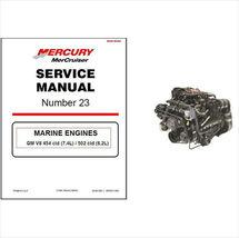 98-01 MerCruiser #23 GM V8 454 cid 7.4L / 502 cid 8.2L Service Repair Manual CD - $12.00