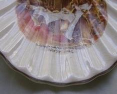 Sairey Gamp and Betsy Prig Shell Dish, Lancaster English Ware Hanley
