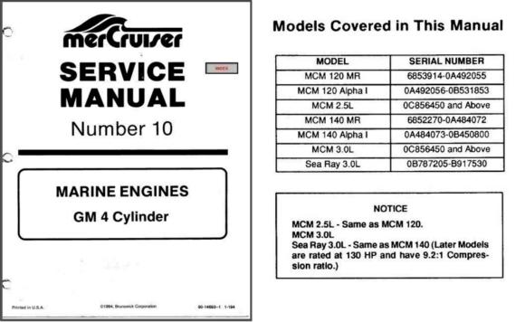 1985 89 mercury mercruiser 10 gm v 4 and 50 similar items rh bonanza com mercruiser service manual 10 pdf mercruiser service manual 11 pdf