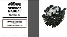 93-97 MerCruiser #16 GM V-8 454 CID 7.4L  502 CID 8.2L ENGINES Service Manual CD - $12.00