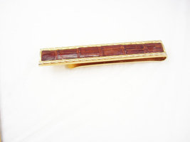 Vintage Large Alligator Leather Tie Clip Goldfilled  Hunter Swank - $45.00