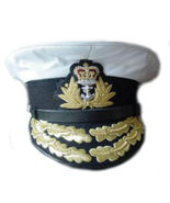 ROYAL NAVY ADMIRAL OFFICER WHITE HAT CAP NEW Size 57, 58, 59, 60, 61, 62... - $101.52