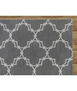 Hand Tufted Trellis Gray 6' x 9' Contemporary Woolen Area Rug Carpet - $479.00