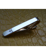 Vintage butterfly design gold tone tie clip cla... - $12.99