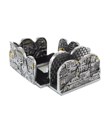 Stand for business cards & memo paper from Israel. Jerusalem and menorah... - £27.02 GBP