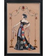 FULL LINEN KIT At The Met MD135 cross stitch Mi... - $84.35