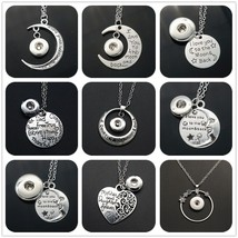 """Hot sale Simple """"I love you to the moon&back"""" chain snap necklace 50cm fit 12mm& - $10.12"""