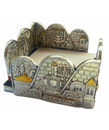 Holy land Stand for memo paper from Israel Jerusalem old city and menora... - £23.11 GBP