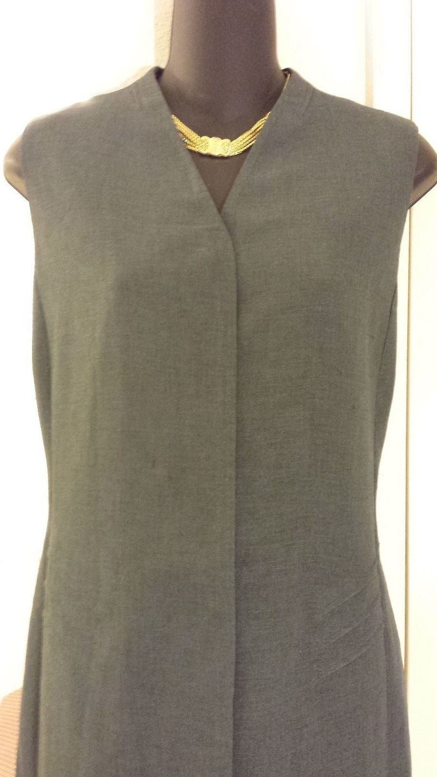 Primary image for *Couture Designer *Armani* Copy Steel Gray Dress Fully Lined sz L (10-12)