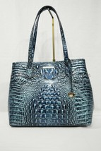 NWT Brahmin Medium Julian Embossed Leather Tote/Shoulder Bag Verdigris M... - $239.00