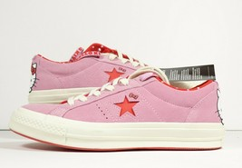 Converse X Hello Kitty Collection One Star OX Pink White New Womens Size 7.5 - $47.49