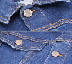 Men's Classic Button Up Casual Cotton Stretch Denim Biker Jean Jacket Vest image 4
