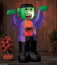 LED Lighted Halloween Monster Airblown Inflatable Yard Decoration - £31.22 GBP