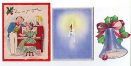 3 Vintage Christmas Cards - Buzza Carozo, Gibson, Nor Cross - $10.00