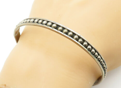 Primary image for MEXICO 925 Silver - Vintage Petite Dome Detailed Round Bangle Bracelet - B6232