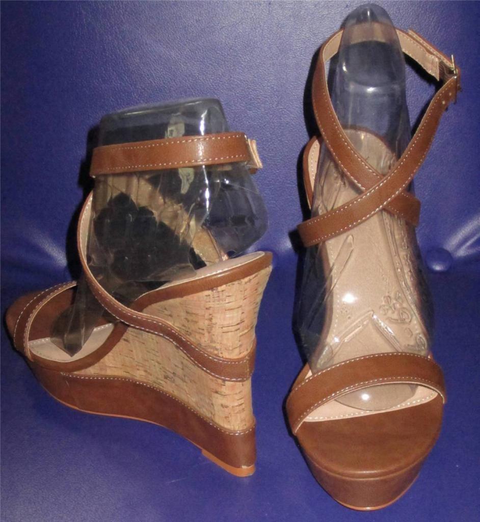8e76b53f61eb7a Victoria s Secret  78 Strappy Brown Wedge and 21 similar items
