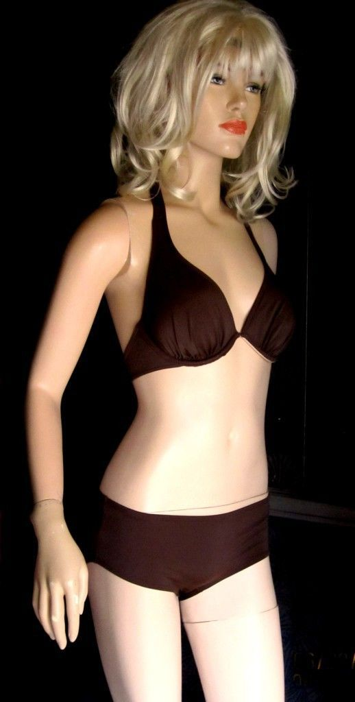 c9d168c65fb73 Victoria s Secret  82 Miracle Bra Push-Up Chocolate Brown Bikini 36B Medium