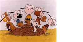 Peanuts Baseball Charlie Brown Vintage 11X14 Color TV Memorabilia Photo - $12.95