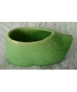 Vintage Small Dutch Shoe Planter in Green - $9.00