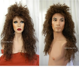 HEAVY METAL Better Costume Wig ... Unisex for Men and Women Bon Jovi, Va... - $26.99