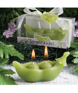 Cute Little Green Pea Shaped Scented Handmade Candle with Box for Home Decor - $9.00