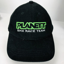 Planet BMX Race Team Baseball Hat Black Cap Bike Racing Adjustable Back - $24.74