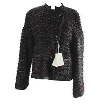 Armani Collezioni Black Red Multi Runway Wool Blend Jacket Blazer 10 $17... - $489.56