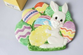 "Fitz and Floyd Gathering Eggs Canape Plate 9"" Easter Bunny Wall USED HOL009 - $416,90 MXN"