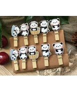 Panda wooden Clothespin,Photo Clips,Children's Birthday Party Favor Deco... - $3.20+