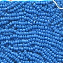 11/0 Seed Bead Rocaille Full Hank Blue 1 - $7.99