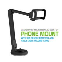 Car Dashboard Windshield Desktop Adjustable Phone Mount with 360° Rotation - $10.95