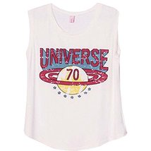 PANDA SUPERSTORE Cute White Printing [Universe] Modal Cotton Tank Tops/Loose Cam