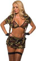 Sexy Military Commando 2 Piece Boot Camp Babe Costume Cami Set image 3