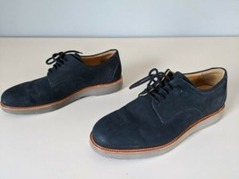Samuel Hubbard Bucks Suede Casual Shoes Mens 10 Navy Blue Lace Up Dress ... - $28.85
