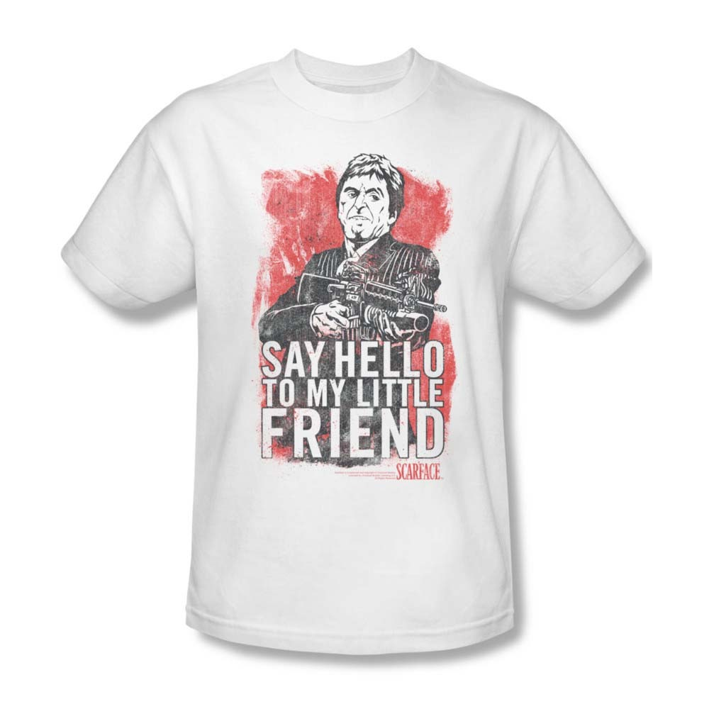 Y hello to my little friend al pacino tee crime thriller pfeiffer for sale online graphic tshirt