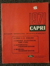 1971 Capri Shop Manual Supplement by Ford Lincoln Mercury Service Depart... - $12.89