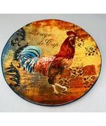 """Certified International Rooster Rustic  """"Rouge de Cap"""" Salad Plate 9"""" D - $22.52"""