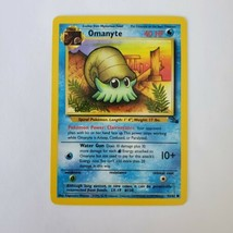 Pokemon Fossil Omanyte LP 52/62 TCG Trading Card Game 1999 Unlimited - $0.99