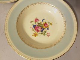 Homer Laughlin Soup Bowls Eggshell Georgian China Robin Egg Blue Set of 3 image 3