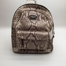 Michael Kors Jet Set XS Small Python Embossed Dark Sand Leather Backpack... - $199.00