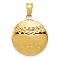 14K Yellow Gold Diamond-Cut Baseball Pendant - $214.99