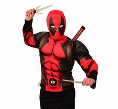 Deadpool Top, Mask & Weapons Set,(Adult) Costume, Fancy Dress, STD - $48.19 CAD