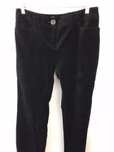 Ann Taylor Loft Marisa Size 6 Slacks Pants Black Velvet Holiday Flap Poc... - $13.09