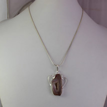 Solar Druzy Stone Silver Plated Pendant With Chain/Necklace Exporter RS-15-30_78 - $8.09