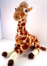 "Giraffe Standing Realistic Stuffed Plush Toy Animal Unipak 16"" Zoo Safari - $13.85"
