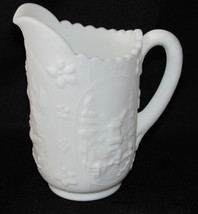 "IMPERIAL Glass Milk White Windmill Creamer Pitcher 6.5"" - $13.86"